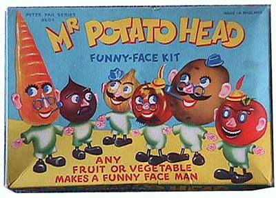 Image result for The first TV toy commercial aired in 1946 for Mr. Potato Head.
